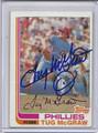 Tug McGraw Autographed Vintage Baseball Card 2379