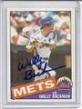 Wally Backman Autographed Baseball Card 2484
