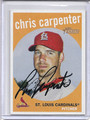Chris Carpenter Autographed Baseball Card 2543