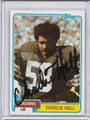 Charlie Hall Autographed Football Card 2863