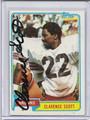 Clarence Scott Autographed Football Card 2865