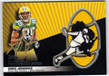 GREG JENNINGS AUTOGRAPHED PIECE OF THE GAME FOOTBALL CARD #30112H