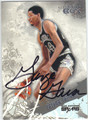GEORGE GERVIN SAN ANTONIO SPURS AUTOGRAPHED BASKETBALL CARD #30213B