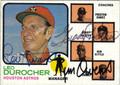 LEO DUROCHER, GRADY HATTON & JIM OWENS TRIPLE AUTOGRAPHED VINTAGE BASEBALL CARD #30112F