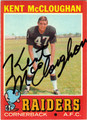 KENT McCLOUGHAN AUTOGRAPHED VINTAGE FOOTBALL CARD #30411D