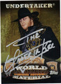 THE UNDERTAKER AUTOGRAPHED WRESTLING CARD #30412D