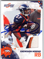 KNOWSHON MORENO AUTOGRAPHED PIECE OF THE GAME ROOKIE FOOTBALL CARD #30412R