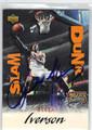 ALLEN IVERSON PHILADELPHIA 76ers AUTOGRAPHED BASKETBALL CARD #30413F
