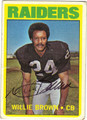 WILLIE BROWN AUTOGRAPHED VINTAGE FOOTBALL CARD #30511D