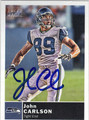 JOHN CARLSON SEATTLE SEAHAWKS AUTOGRAPHED FOOTBALL CARD #30513C