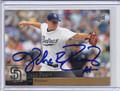 Jake Peavy Autographed baseball Card 3057