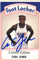 CARL LEWIS AUTOGRAPHED CARD #30412M