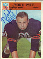 MIKE PYLE CHICAGO BEARS AUTOGRAPHED VINTAGE FOOTBALL CARD #30613A