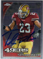 TAYLOR MAYS SAN FRANCISCO 49ers AUTOGRAPHED ROOKIE FOOTBALL CARD #30613C