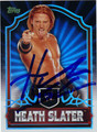 HEATH SLATER AUTOGRAPHED WRESTING CARD #30712B