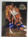 BILL RUSSELL BOSTON CELTICS AUTOGRAPHED BASKETBALL CARD #30713D
