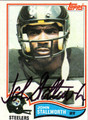 JOHN STALLWORTH AUTOGRAPHED VINTAGE FOOTBALL CARD #30812O