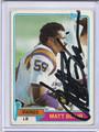 Matt Blair Autographed Football Card 3113