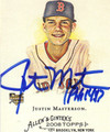 JUSTIN MASTERSON BOSTON RED SOX AUTOGRAPHED ROOKIE BASEBALL CARD #31213B