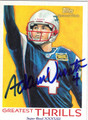 ADAM VINATIERI NEW ENGLAND PATRIOTS AUTOGRAPHED FOOTBALL CARD #31213G