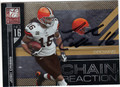 JOSH CRIBBS CLEVELAND BROWNS AUTOGRAPHED & NUMBERED FOOTBALL CARD #31313B