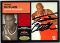 TRAVIS OUTLAW AUTOGRAPHED ROOKIE PIECE OF THE GAME BASKETBALL CARD #31312G