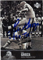 LOU GROZA CLEVELAND BROWNS AUTOGRAPHED FOOTBALL CARD #31313J
