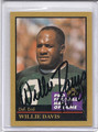 Willie Davis Autographed Football Card 3146
