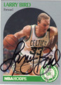 LARRY BIRD AUTOGRAPHED BASKETBALL CARD #31512C