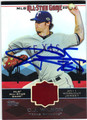 CJ WILSON AUTOGRAPHED PIECE OF THE GAME BASEBALL CARD #31512J