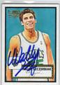 WALLY SZCZERBIAK BOSTON CELTICS AUTOGRAPHED BASKETBALL CARD #31513A