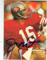 JOE MONTANA SAN FRANCISCO 49ers AUTOGRAPHED FOOTBALL CARD #31613G