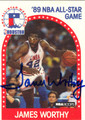 JAMES WORTHY AUTOGRAPHED BASKETBALL CARD #31612B