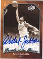 KAREEM ABDUL-JABBAR AUTOGRAPHED BASKETBALL CARD #31612S