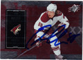 PETER MUELLER AUTOGRAPHED HOCKEY CARD #31612R
