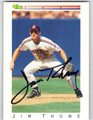 JIM THOME AUTOGRAPHED ROOKIE BASEBALL CARD #31712R