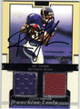 RON JOHNSON BALTIMORE RAVENS AUTOGRAPHED PIECE OF THE GAME ROOKIE FOOTBALL CARD #31813C