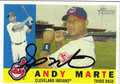 ANDY MARTE AUTOGRAPHED BASEBALL CARD #31812S
