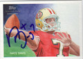 NATE DAVIS AUTOGRAPHED ROOKIE FOOTBALL CARD #32012E