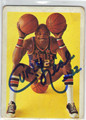 FREDDIE CURLY NEAL HARLEM GLOBETROTTERS AUTOGRAPHED VINTAGE BASKETBALL CARD #32013B