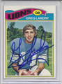Greg Landry Autographed Football Card 3202