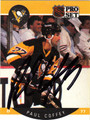 PAUL COFFEY AUTOGRAPHED HOCKEY CARD #32112A