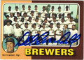 DEL CRANDALL MILWAUKEE BREWERS AUTOGRAPHED VINTAGE BASEBALL CARD #32112F