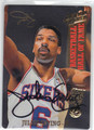 JULIUS ERVING PHILADELPHIA 76ers AUTOGRAPHED BASKETBALL CARD #32113F