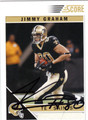JIMMY GRAHAM AUTOGRAPHED ROOKIE FOOTBALL CARD #32212A
