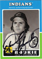 DENNIS ECKERSLEY AUTOGRAPHED BASEBALL CARD #32312D