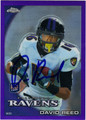 DAVID REED AUTOGRAPHED & NUMBERED ROOKIE FOOTBALL CARD #32312E