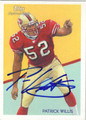 PATRICK WILLIS SAN FRANCISCO 49ers AUTOGRAPHED FOOTBALL CARD #32112M