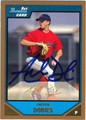 ANDREW DOBIES AUTOGRAPHED ROOKIE BASEBALL CARD #32112N