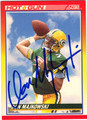 DON MAJKOWSKI GREEN BAY PACKERS AUTOGRAPHED FOOTBALL CARD #32313E